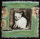 cat art tile